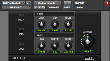 3-Band Equalizer Kill EQ